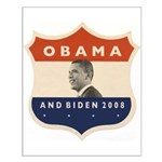 Obama / Biden JFK '60 Shield Small Poster