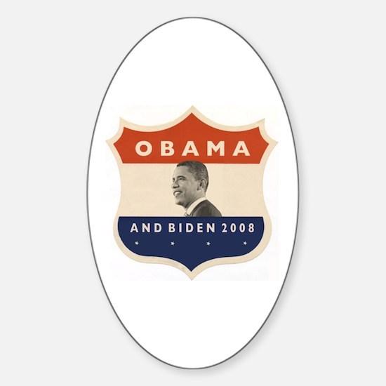 Obama / Biden JFK '60 Shield Oval Decal
