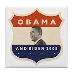 Obama / Biden JFK '60 Shield Tile Coaster