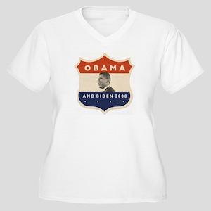 Obama / Biden JFK '60 Shield Women's Plus Size V-N