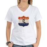 Obama / Biden JFK '60 Shield Women's V-Neck T-Shir