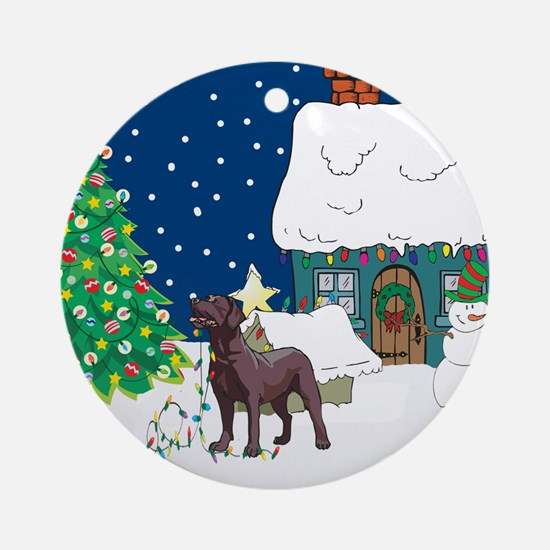 Christmas Lights Lab Ornament (Round)