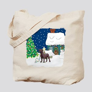 Christmas Lights Lab Tote Bag