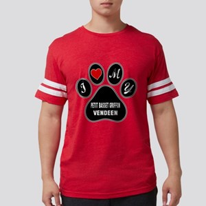 I Love My Petit basset griffon Mens Football Shirt