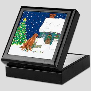 Christmas Lights Irish Setter Keepsake Box
