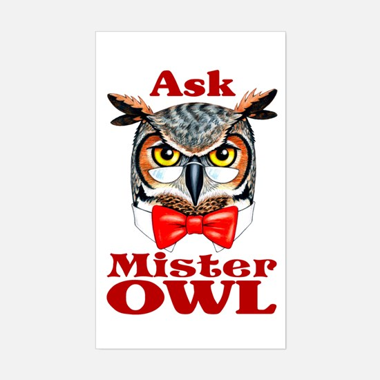 Ask Mister OWL Rectangle Decal