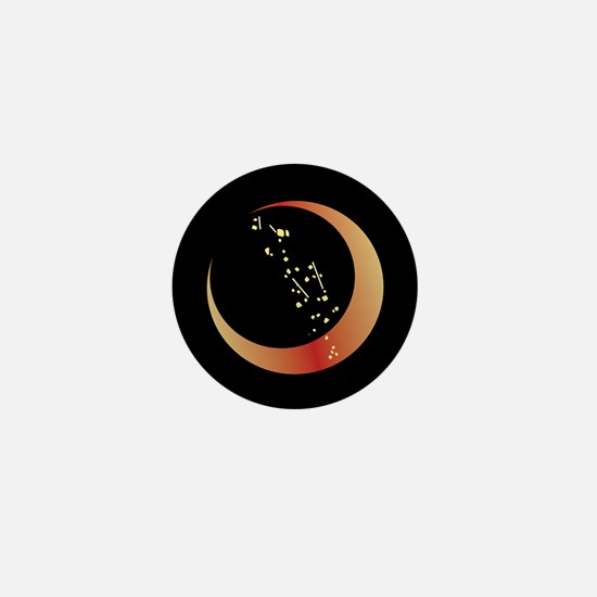Crescent Moon Mini Button