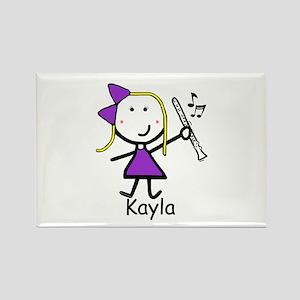 Clarinet - Kayla Rectangle Magnet