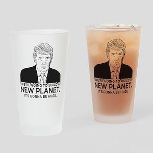 Donald Trump New Planet Drinking Glass