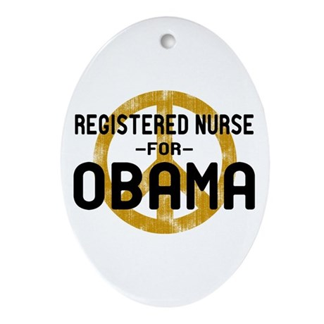 RN for Obama Oval Ornament