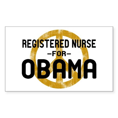 RN for Obama Rectangle Sticker