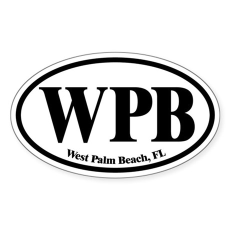 West Palm Beach WPB Euro Oval Oval Sticker