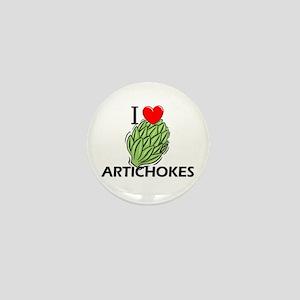 I Love Artichokes Mini Button