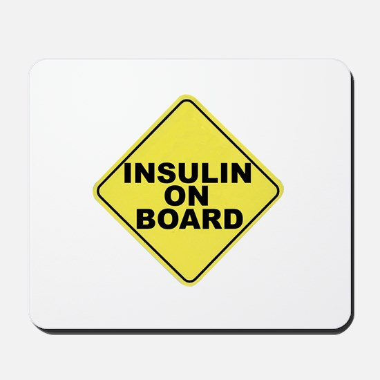 Insulin on board Mousepad