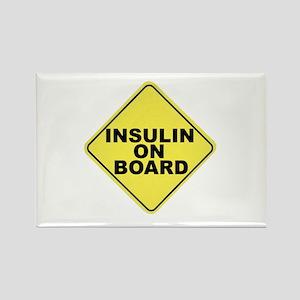 Insulin on board Rectangle Magnet