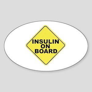 Insulin on board Oval Sticker