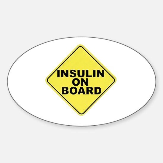 Insulin on board Oval Decal