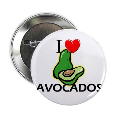 "I Love Avocados 2.25"" Button (10 pack)"