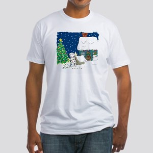 Christmas Lights Dalmation Fitted T-Shirt