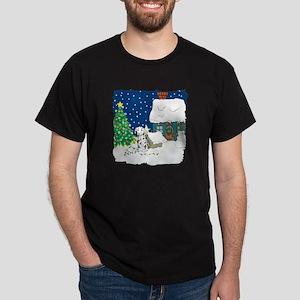Christmas Lights Dalmation Dark T-Shirt