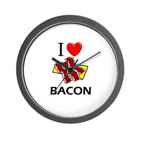 I Love Bacon Wall Clock