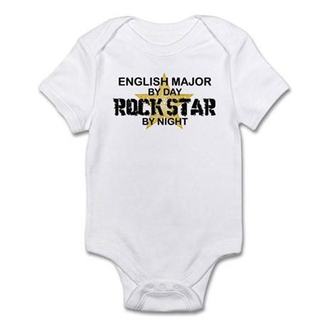 English Major Rock Star by Night Infant Bodysuit