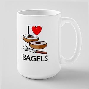 I Love Bagels Large Mug