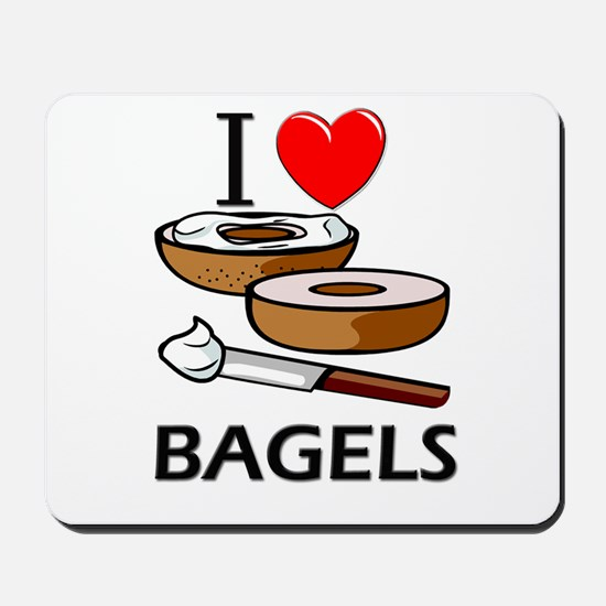 I Love Bagels Mousepad