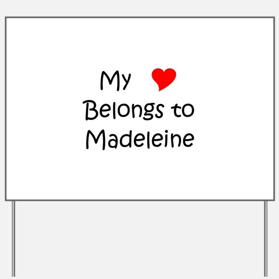 Cute Madeleine Yard Sign