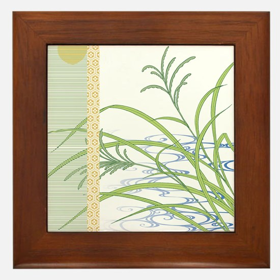 screen w/ grass and stream Framed Tile