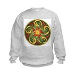 Celtic Pentacle Spiral Kids Sweatshirt