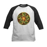 Celtic Pentacle Spiral Kids Baseball Jersey