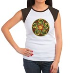 Celtic Pentacle Spiral Women's Cap Sleeve T-Shirt