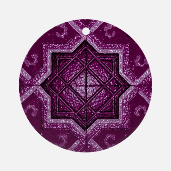Abstract 7 (Violet Ornament (Round)