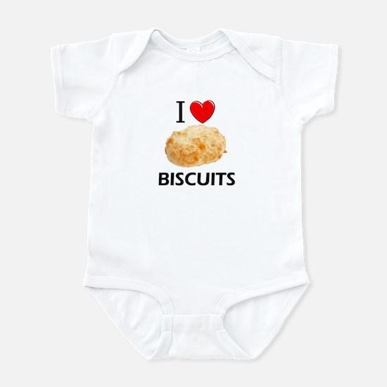 I Love Biscuits Infant Bodysuit