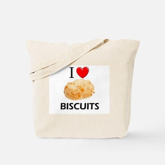 I Love Biscuits Tote Bag