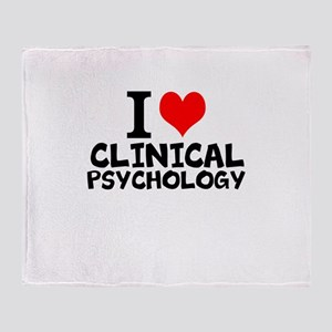 I Love Clinical Psychology Throw Blanket