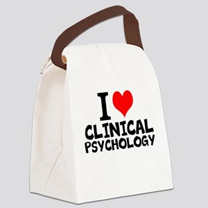 I Love Clinical Psychology Canvas Lunch Bag