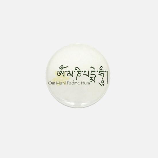Mantra: Om Mani Padme Hum Mini Button
