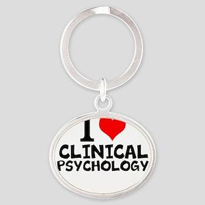 I Love Clinical Psychology Keychains