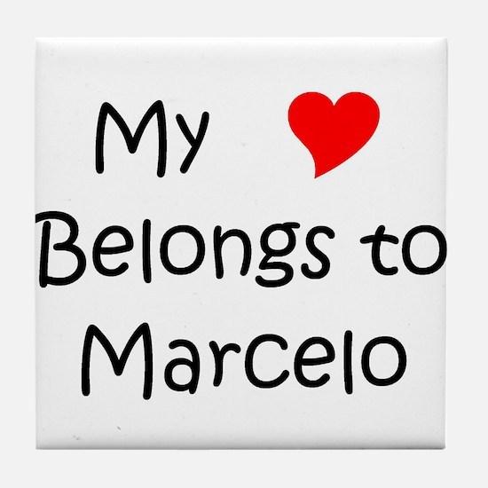 Cute Marcelo Tile Coaster
