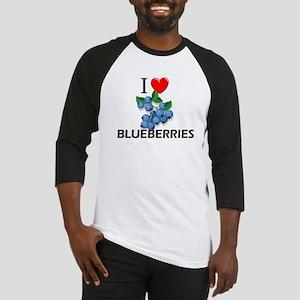 I Love Blueberries Baseball Jersey