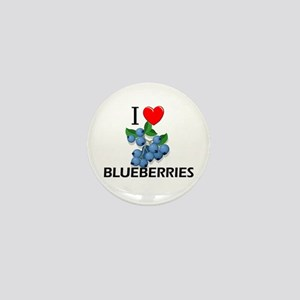 I Love Blueberries Mini Button