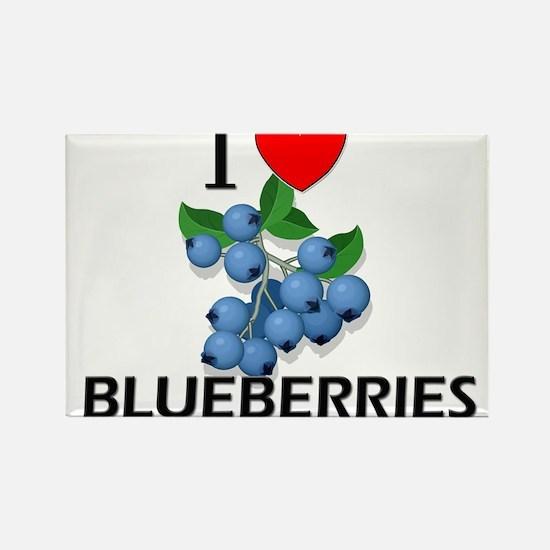 I Love Blueberries Rectangle Magnet