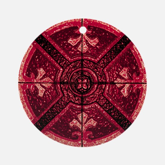 Abstract 6 (Red) Ornament (Round)