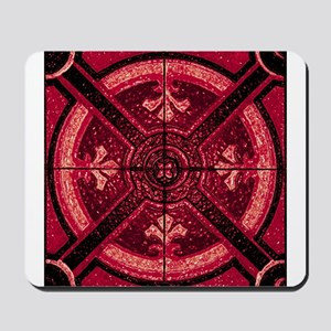 Abstract 6 (Red) Mousepad