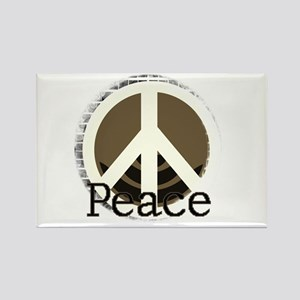 Brick Wall Peace Rectangle Magnet