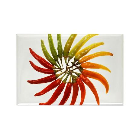 Chili Pepper Wheel Rectangle Magnet (100 pack)