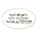 HalloweenCC Oval Sticker (50 pk)