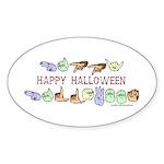 HalloweenCC Oval Sticker (10 pk)